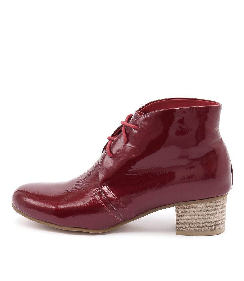 Django & Juliette Jadan Red Casual Ankle Boots