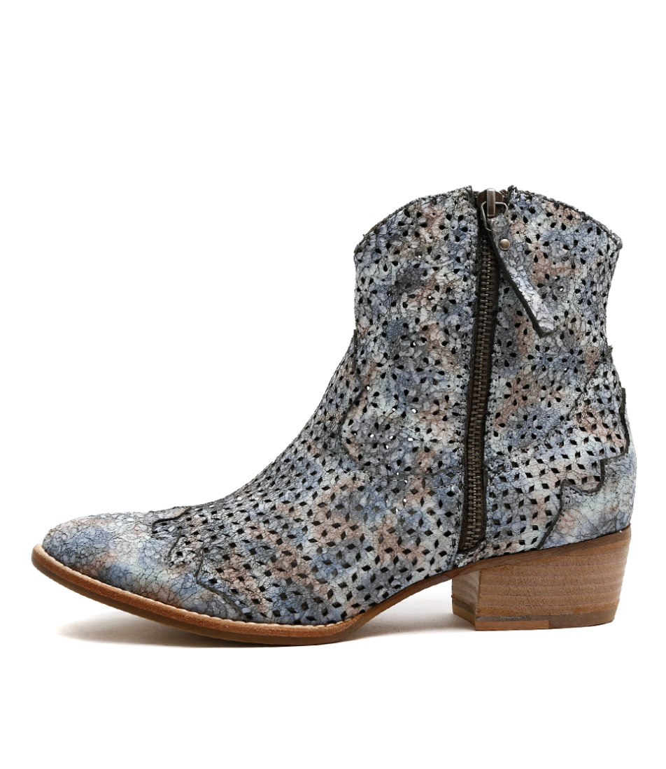 Django & Juliette Lazro Pastel Multi Ankle Boots