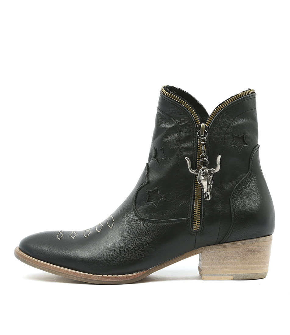 Buy Django & Juliette Leoni Black Ankle Boots online with free shipping