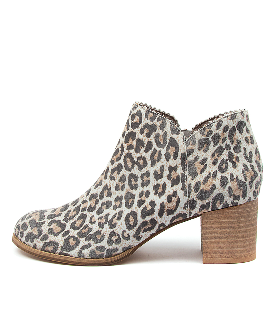 Buy Django & Juliette Sharon Taupe Ankle Boots online with free shipping