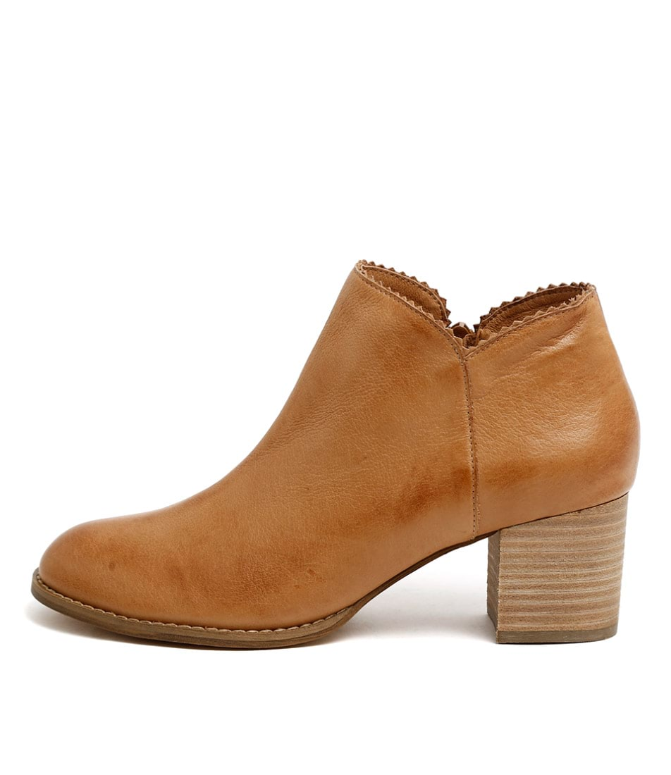 Buy Django & Juliette Sharon Dk Tan Ankle Boots online with free shipping