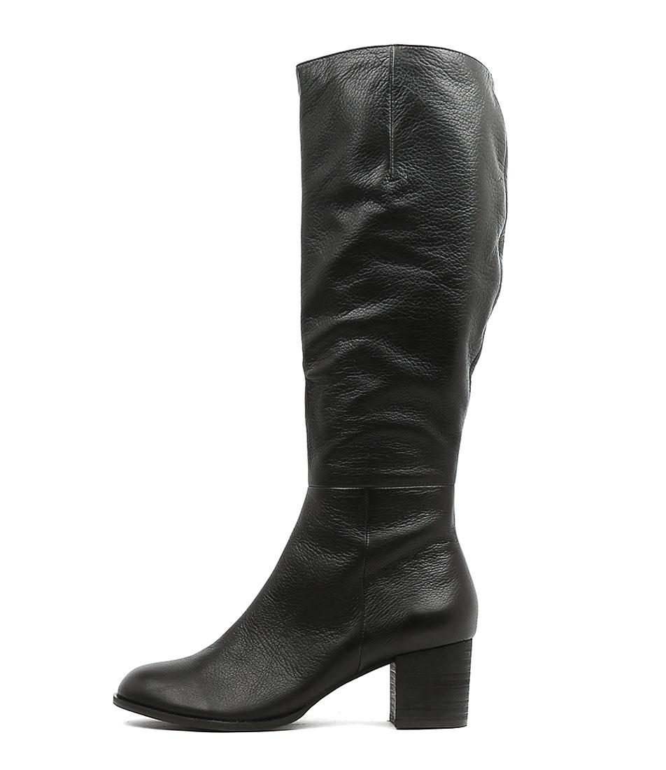 Buy Django & Juliette Sled Black Heel Long Boots online with free shipping