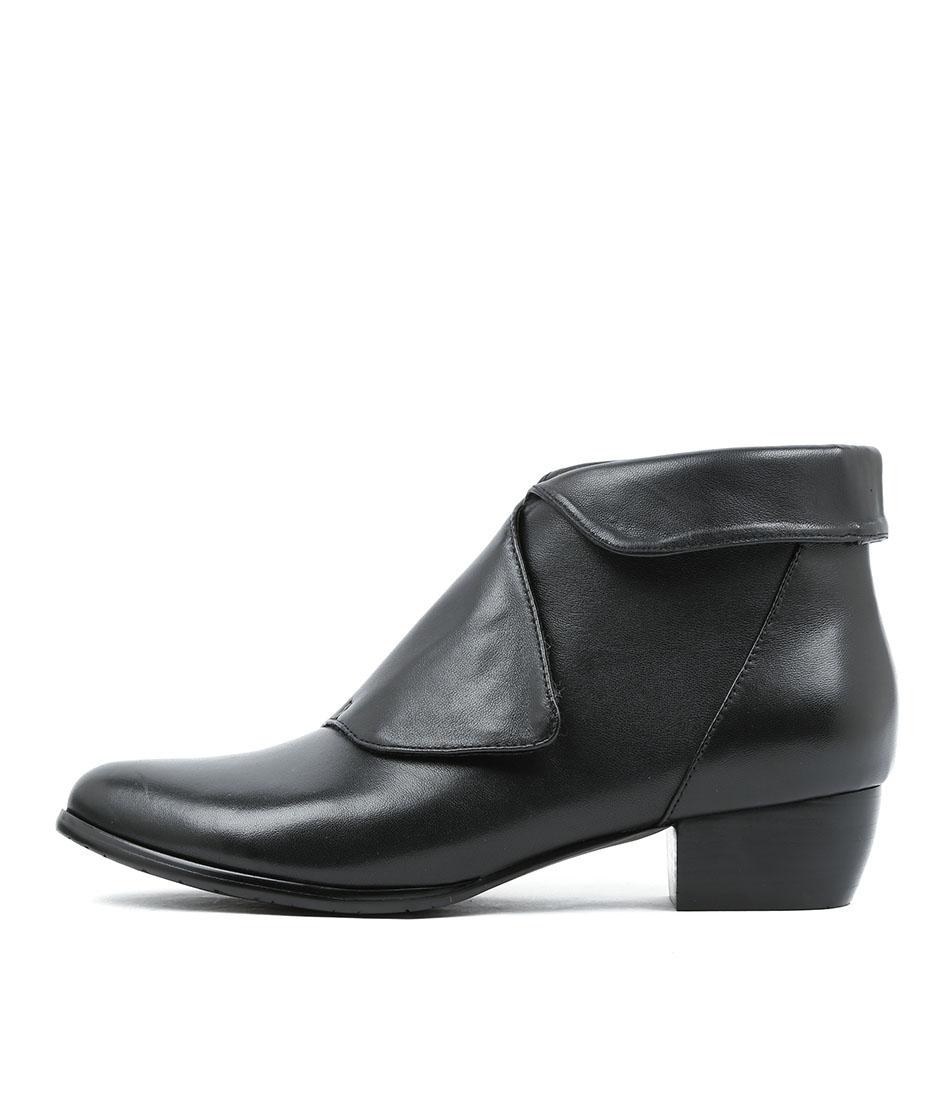 Django & Juliette Tasker Black Ankle Boots
