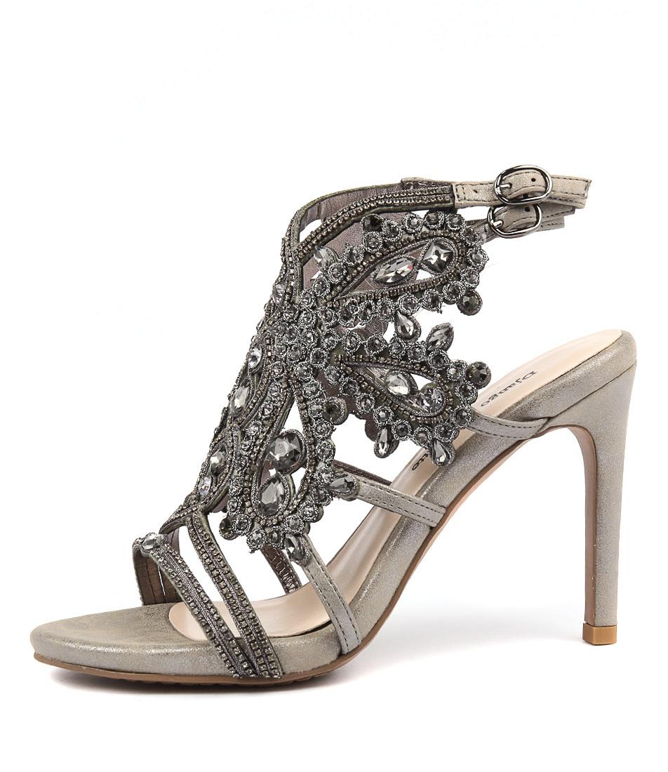 Django & Juliette 102 Pewter Dress Heeled Sandals