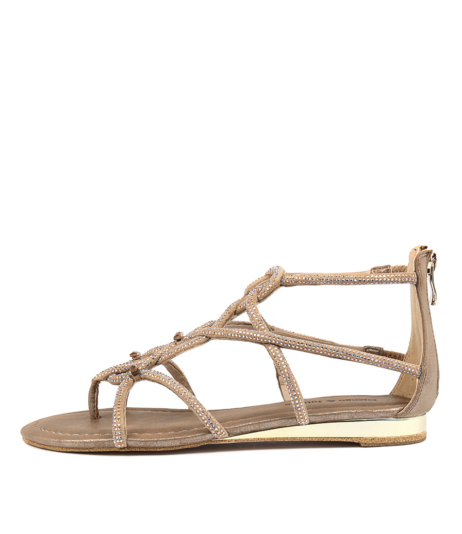 Django & Juliette 391 Bronze Flat Sandals