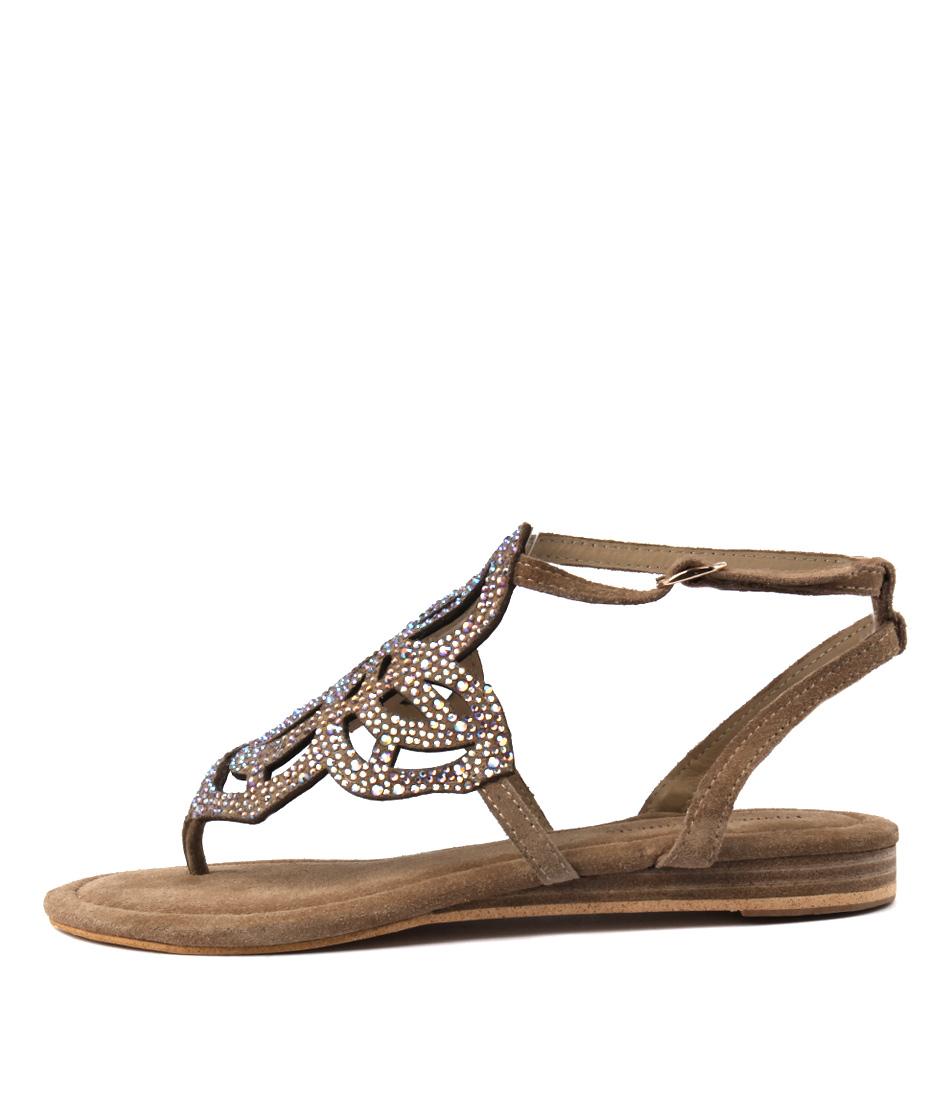 Django & Juliette 407 Sand Casual Flat Sandals