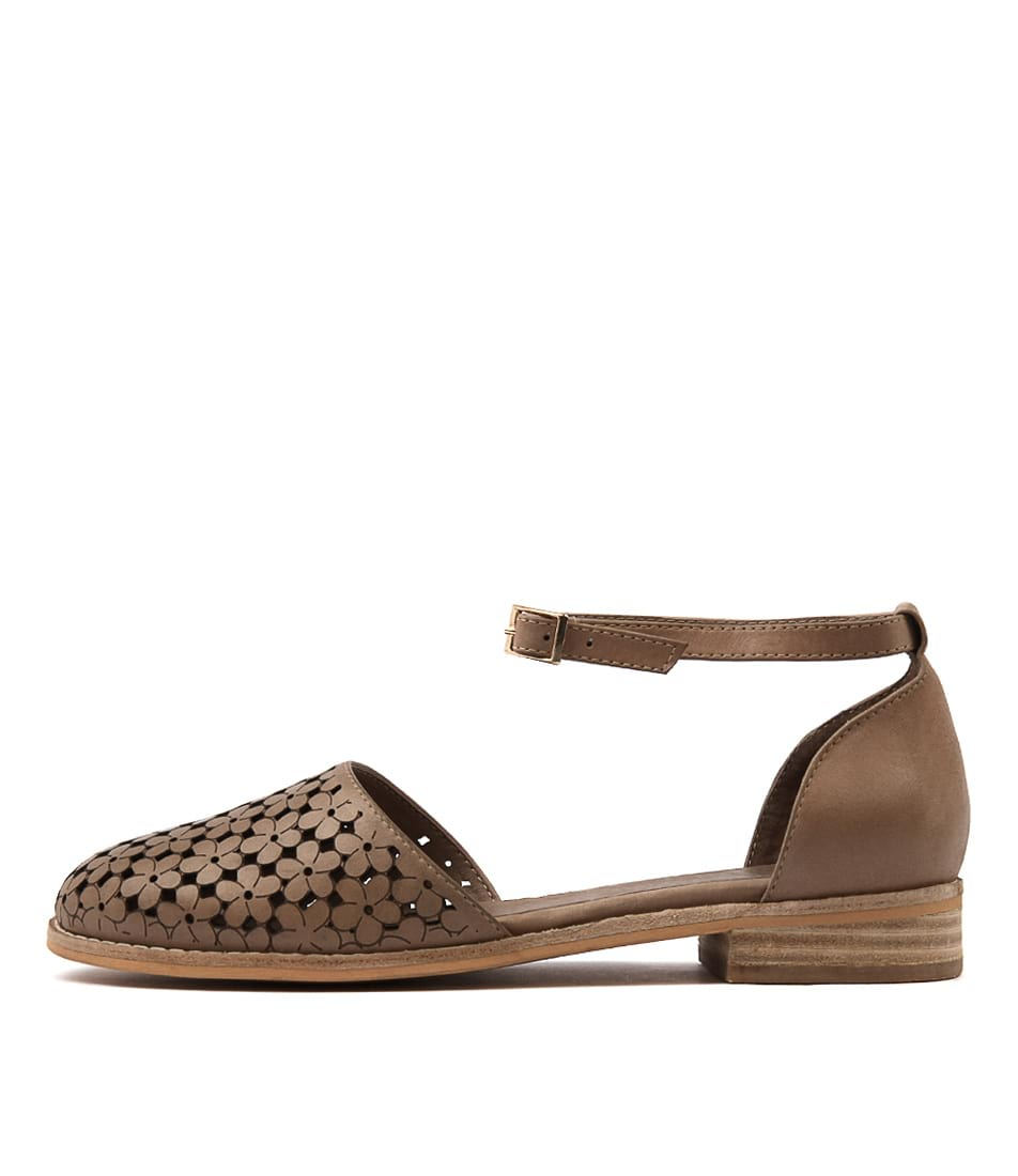 Django & Juliette Ablush Latte Latte Flat Shoes