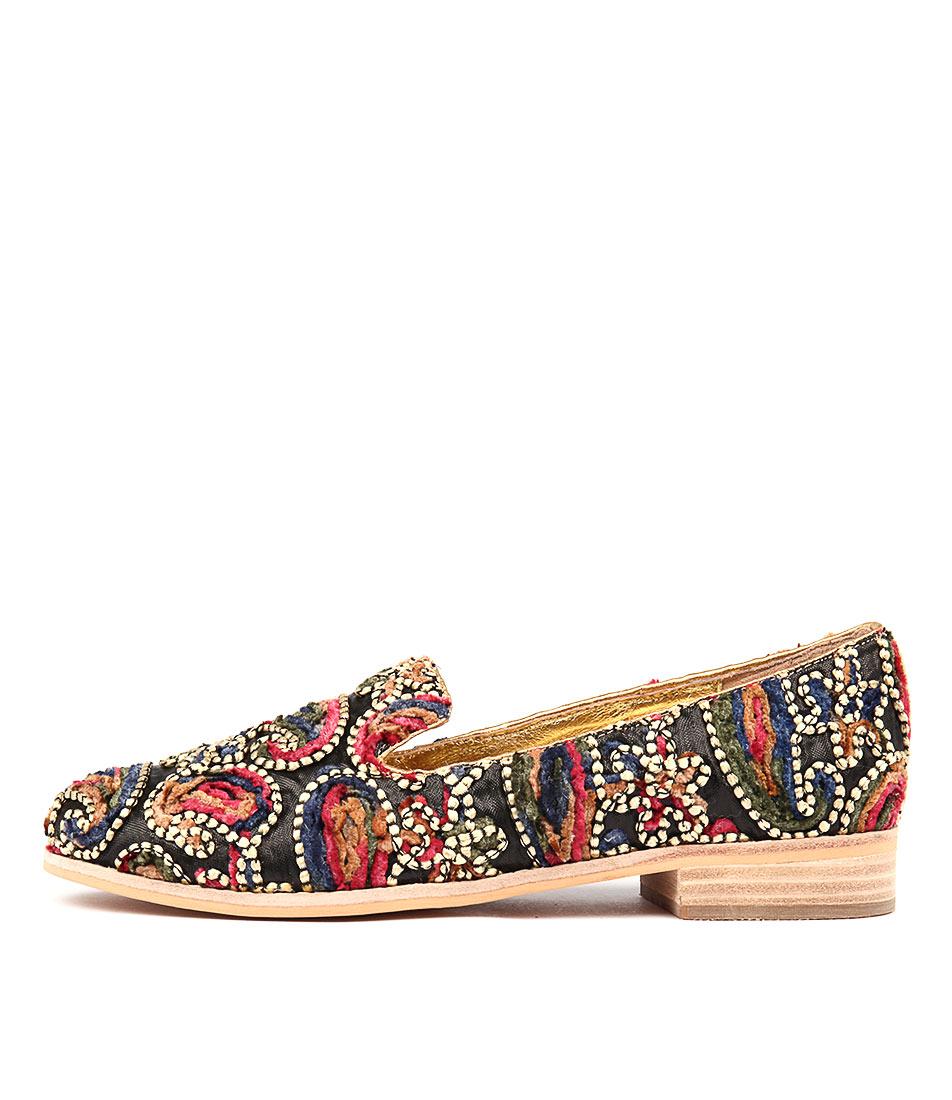 Django & Juliette Absorb Gold Boho Gold Casual Flat Shoes