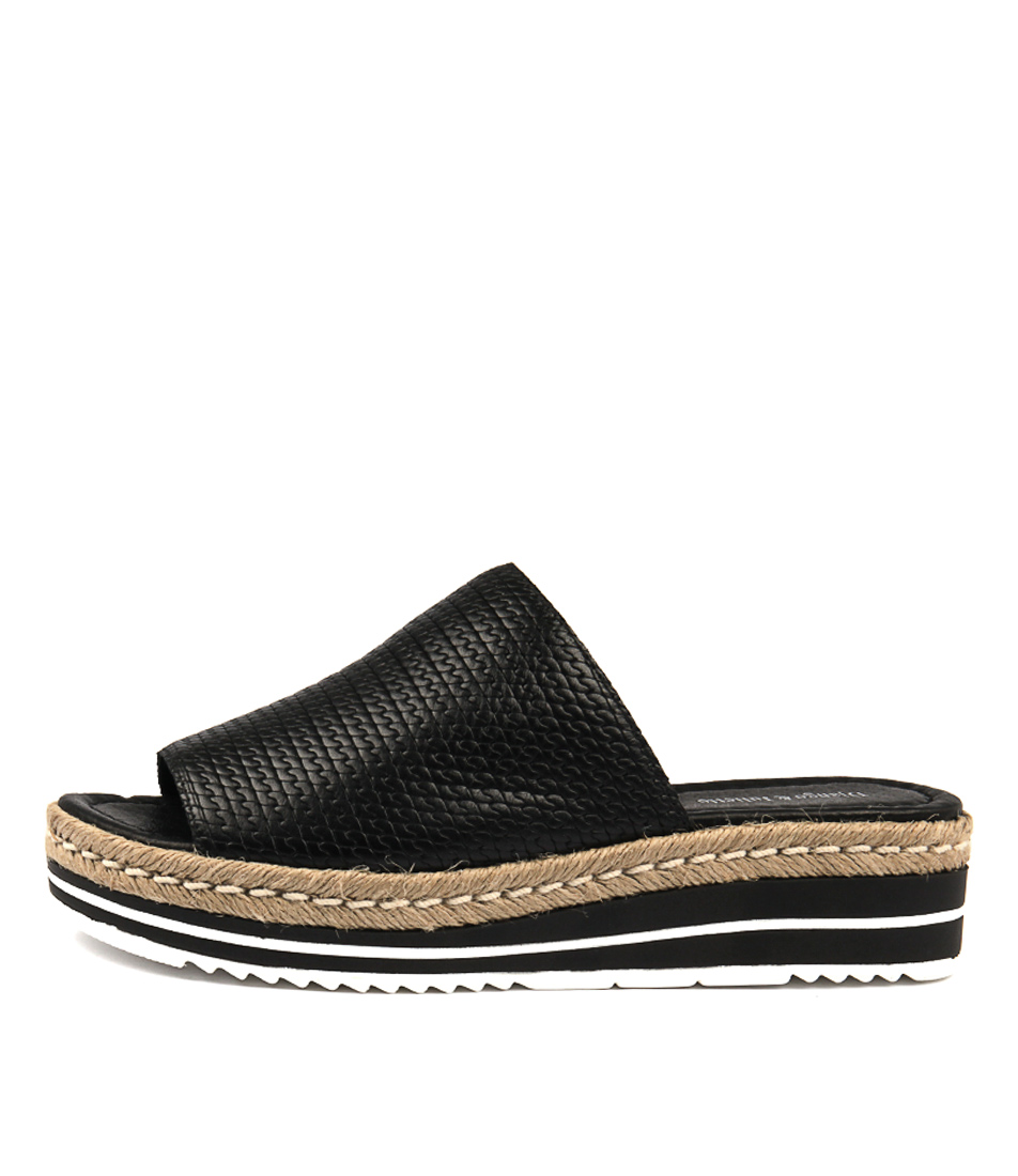 Buy Django & Juliette Accent Black Flat Sandals online with free shipping