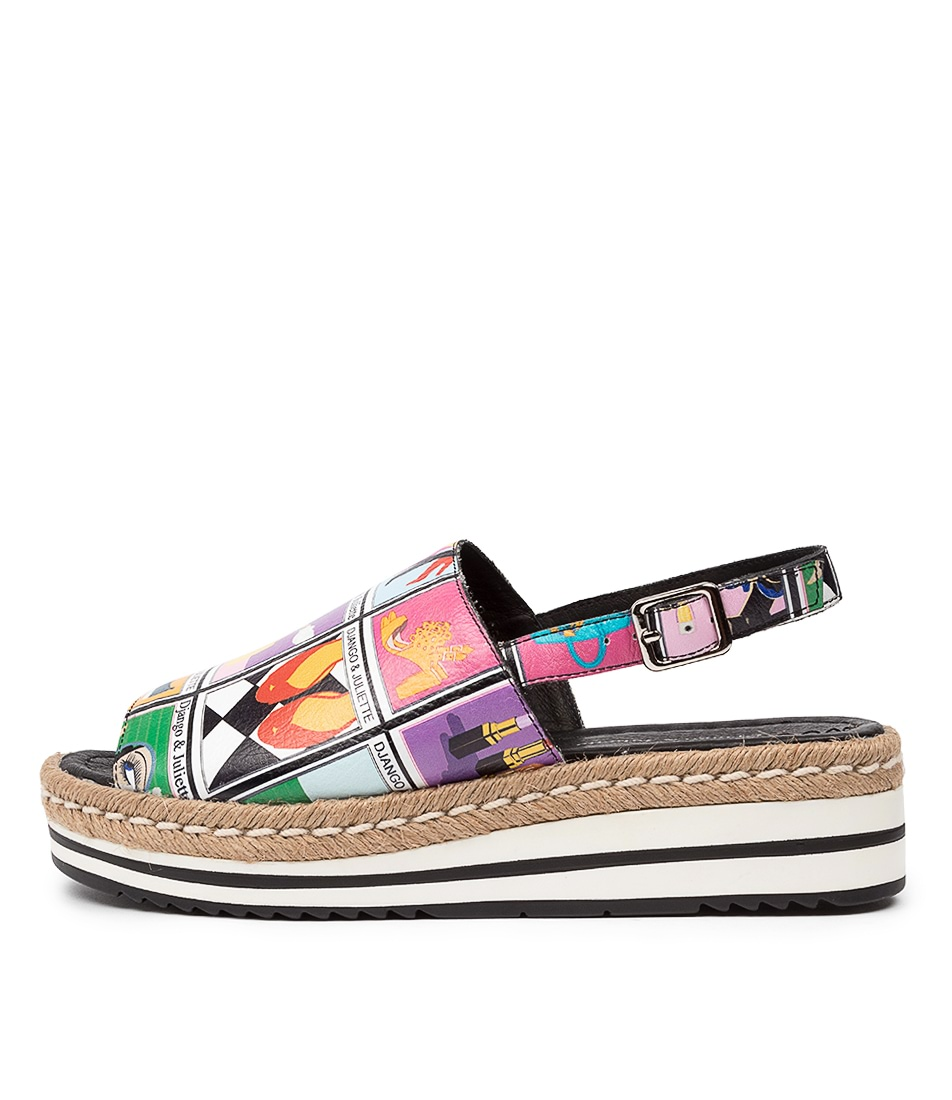 Buy Django & Juliette Adidah Dj Print Flat Sandals online with free shipping
