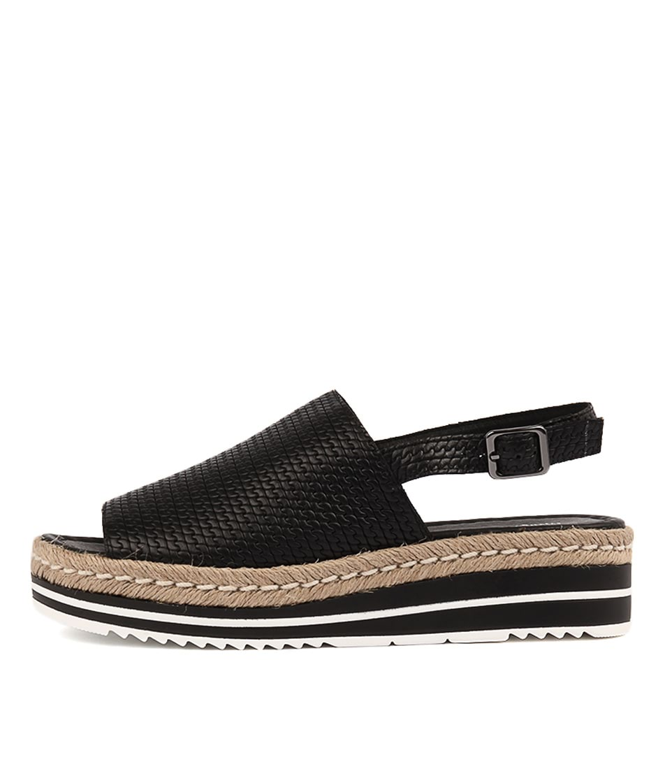 Buy Django & Juliette Adidah Black Flat Sandals online with free shipping