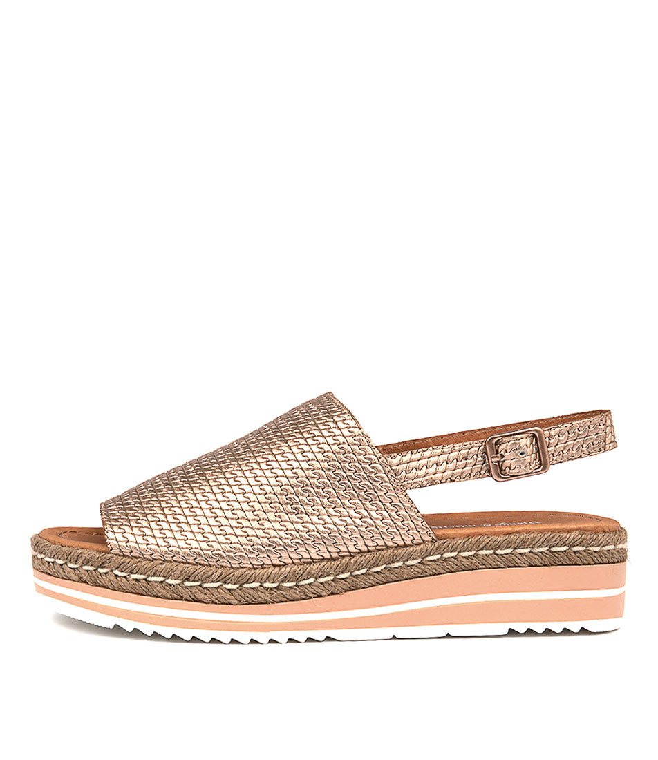 Buy Django & Juliette Adidah Rose Gold Flat Sandals online with free shipping