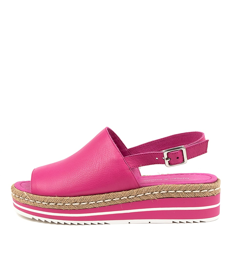 Buy Django & Juliette Adidah Fuchsia Flat Sandals online with free shipping