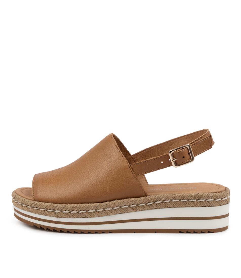 Buy Django & Juliette Adidah Dk Tan Flat Sandals online with free shipping