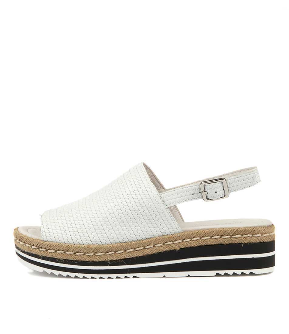 Buy Django & Juliette Adidah White Flat Sandals online with free shipping