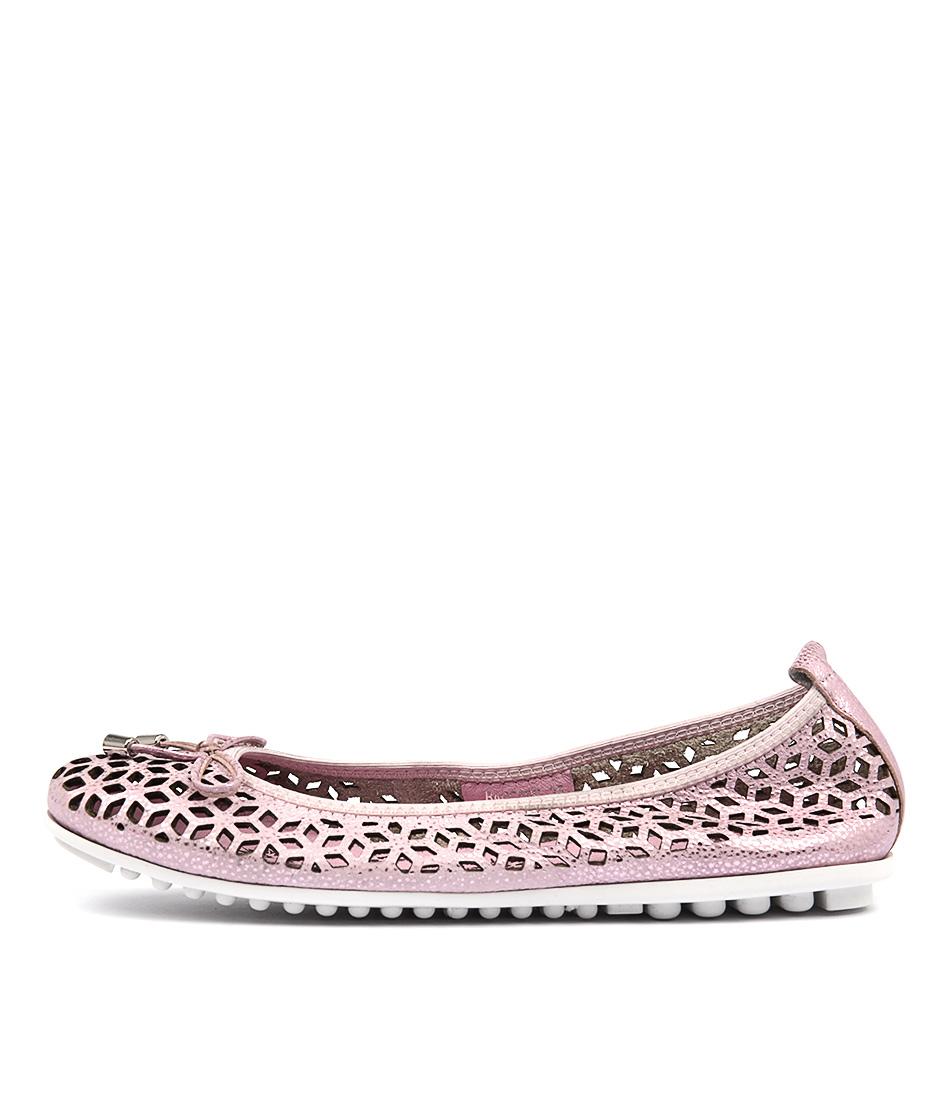 Django & Juliette Baccars Pink Metallic Flat Shoes