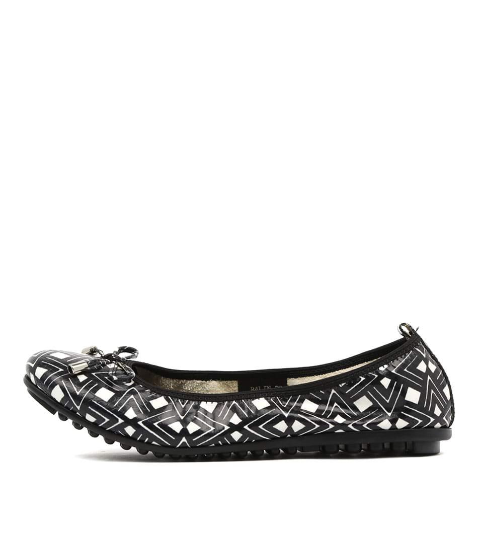 Django & Juliette Balin Black & White Azt Flat Shoes