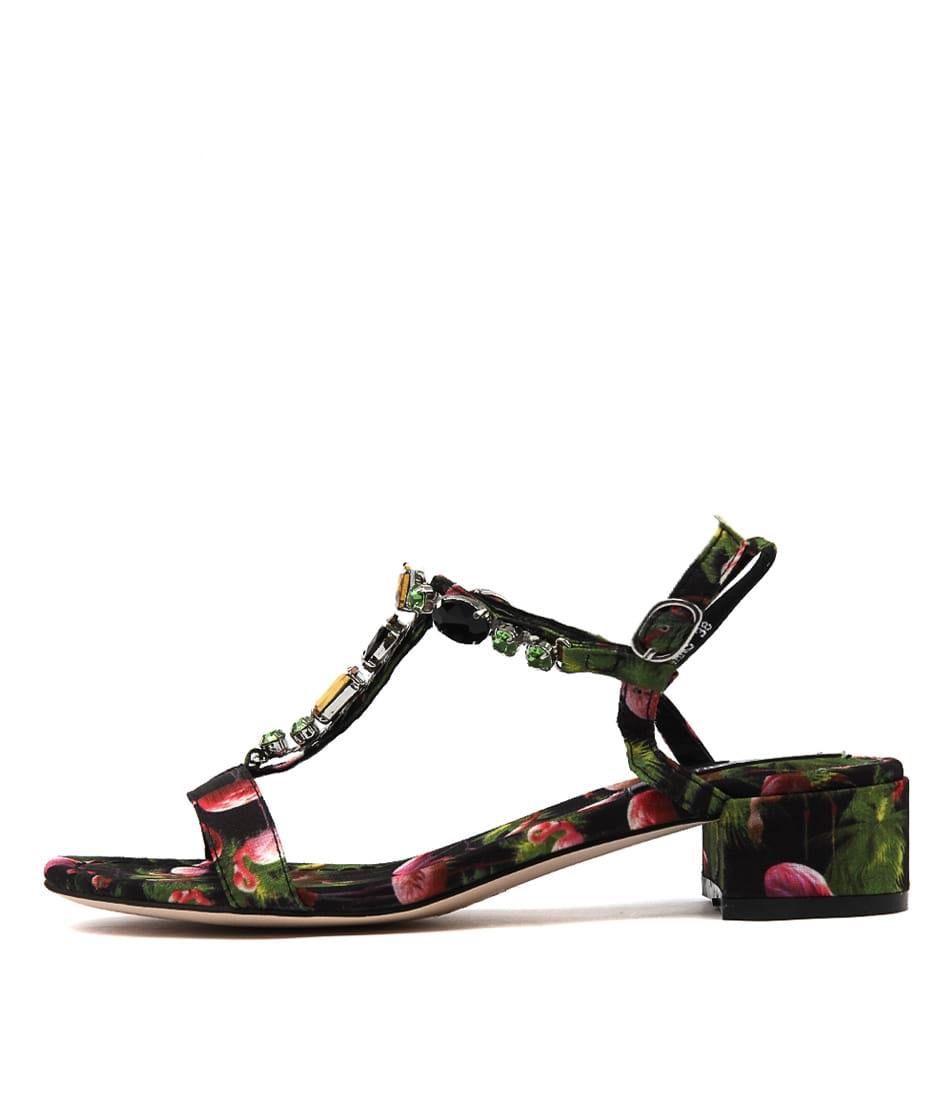 Django & Juliette Begans Black Flamingo Heeled Sandals