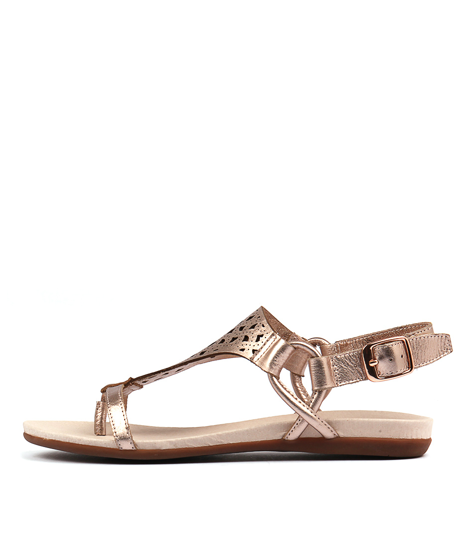 Django & Juliette Besha Rose Gold Sandals