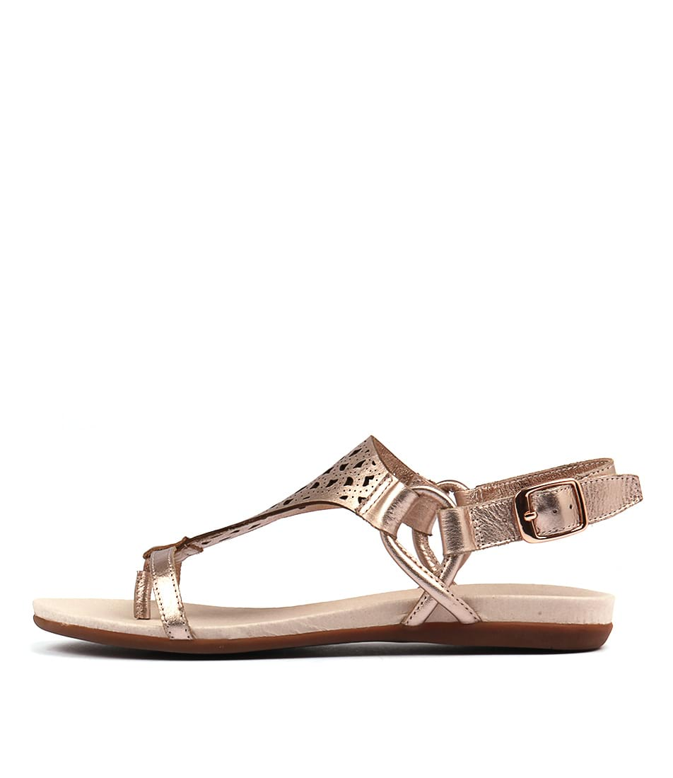 Django & Juliette Besha Rose Gold Casual Flat Sandals