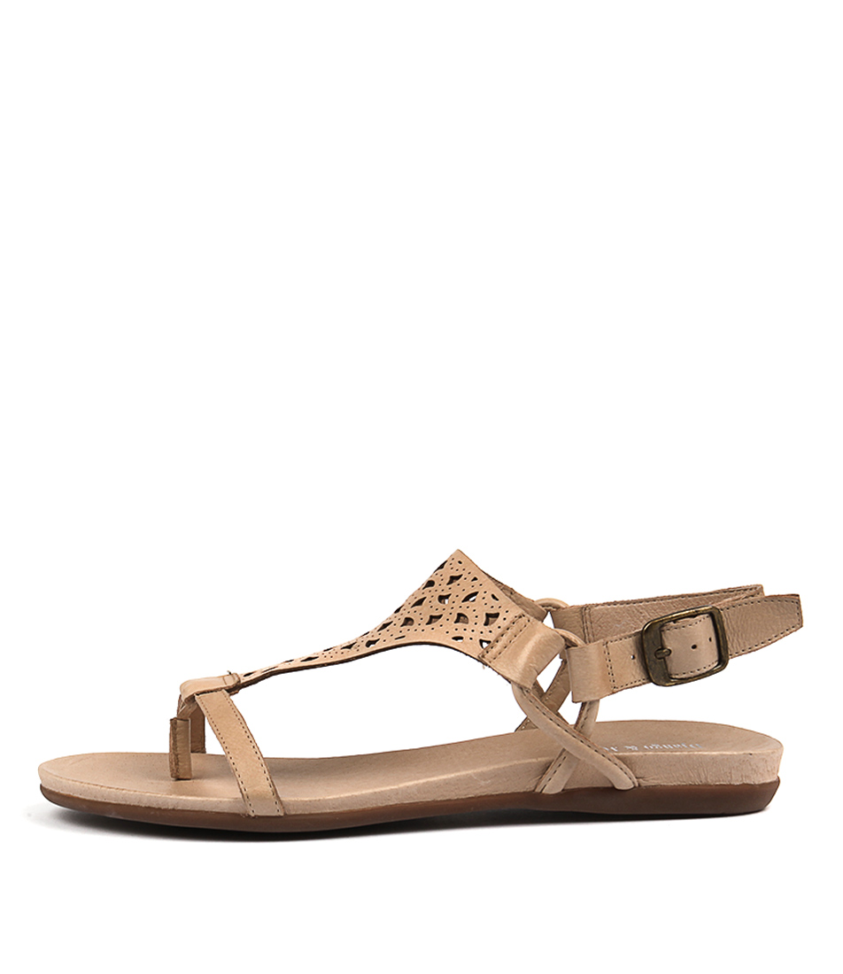 Django & Juliette Besha Latte Casual Flat Sandals