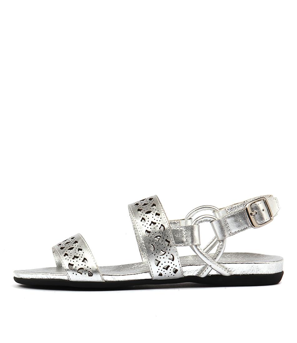 Django & Juliette Besta Silver Sandals