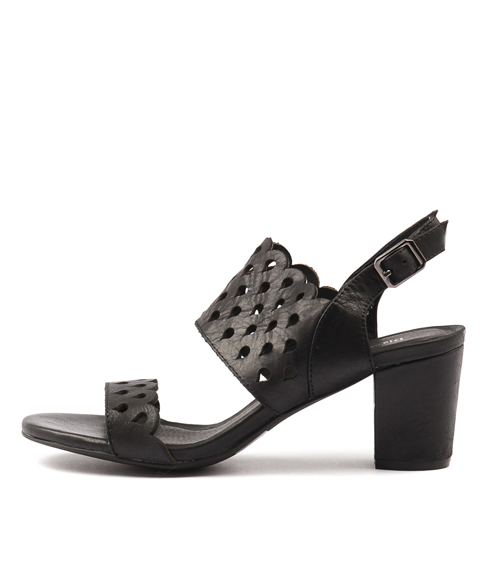 Photo of Django & Juliette Carine Black Sandals, shop Django & Juliette shoes online