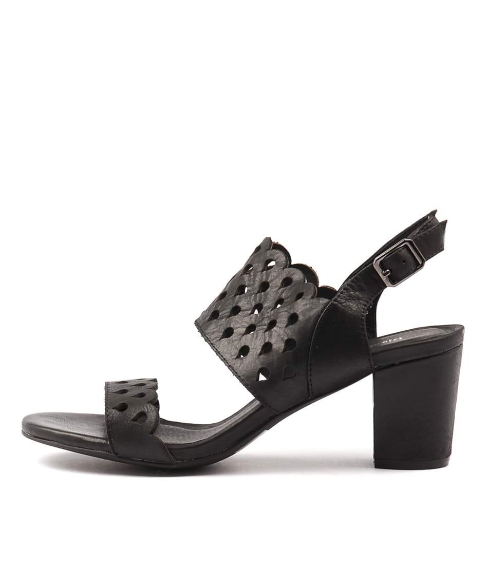 Photo of Django & Juliette Carine Black Sandals, shop Django & Juliette shoes online