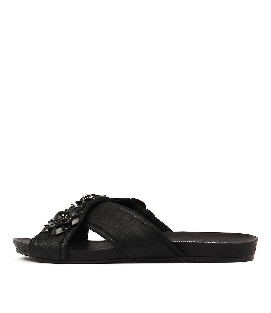 Django & Juliette Darmiti Black Dust Blac Sandals