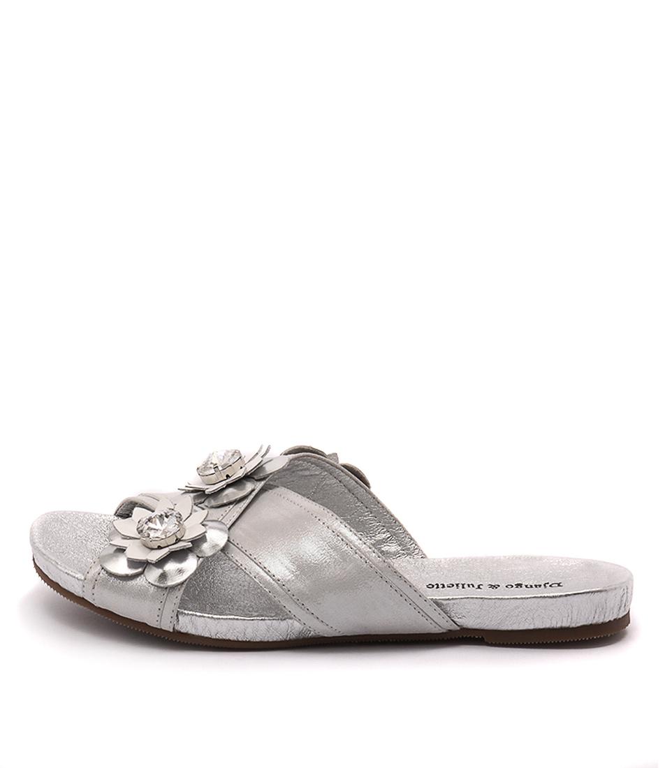 Django & Juliette Darmiti Silver Dust Whi Sandals