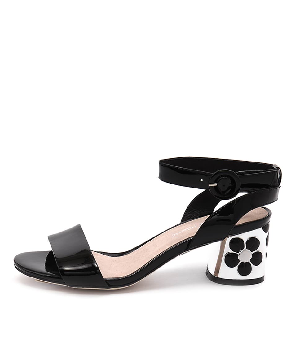 Django & Juliette Dressy Black Heeled Sandals