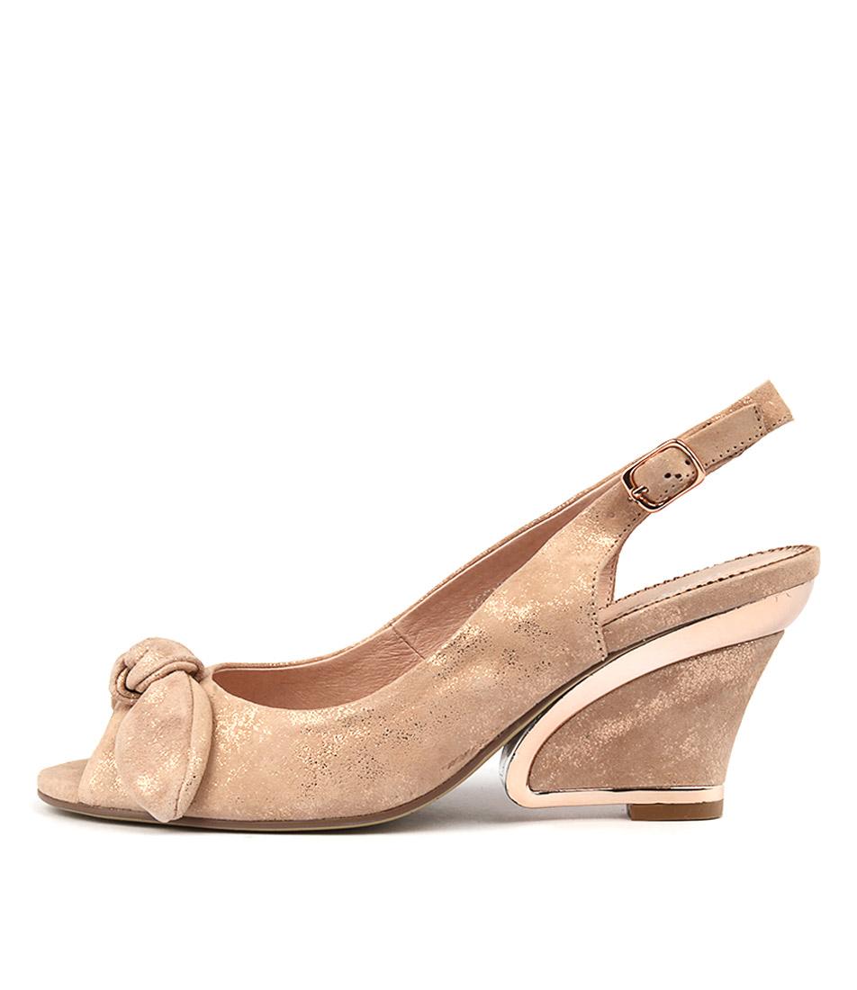 Django & Juliette Escara Nude & Rose Gold Heeled Shoes