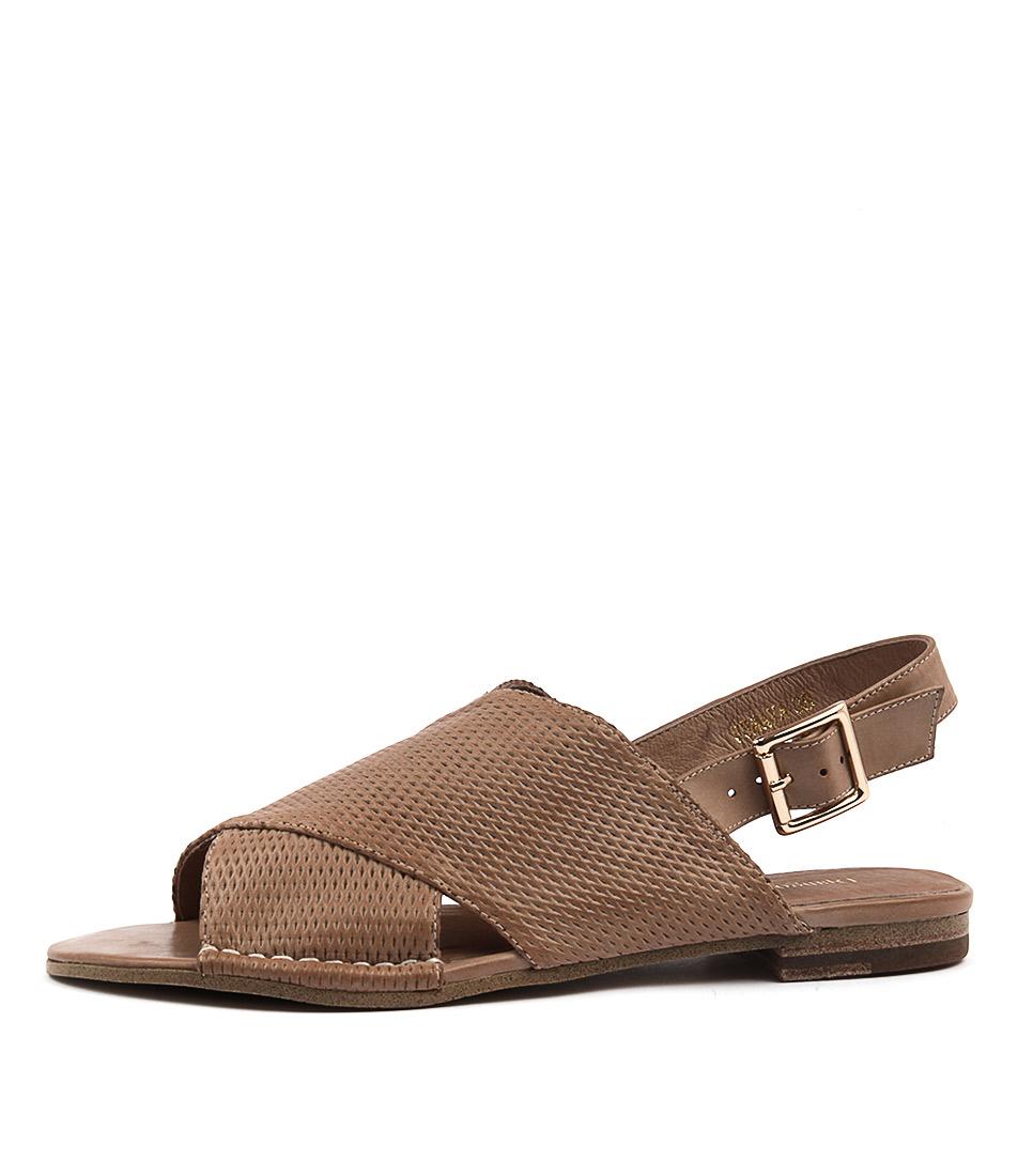 Django & Juliette Femaya Latte Casual Flat Sandals