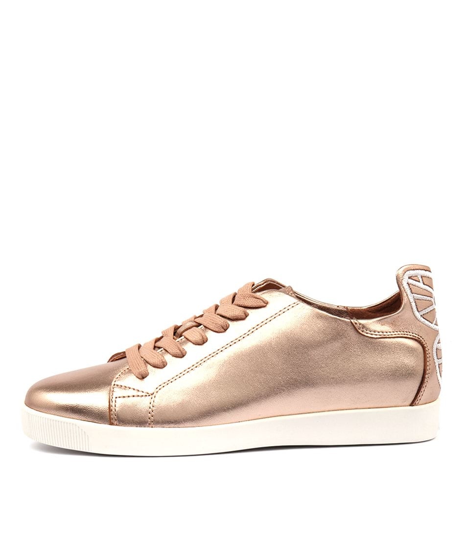 Django & Juliette Galias Rose Gold White Sneakers