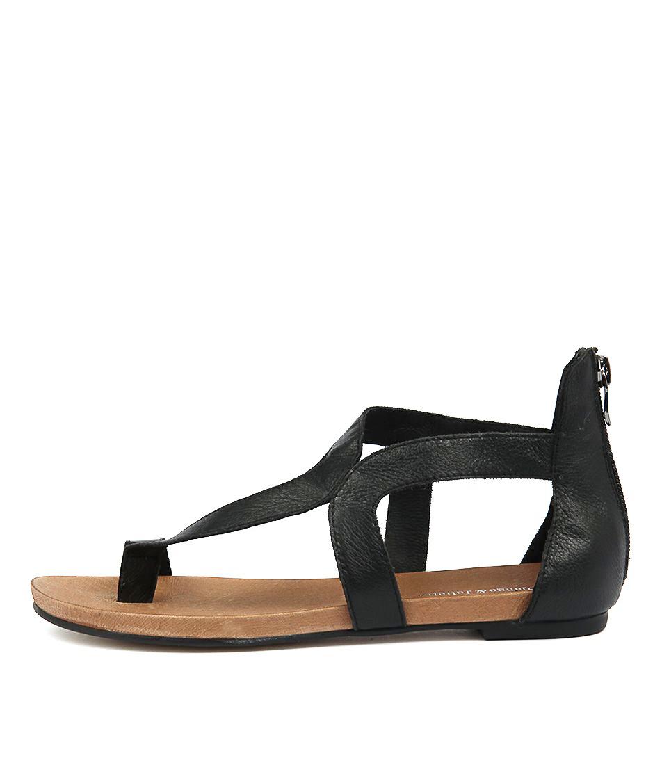 Buy Django & Juliette Jackson Black Flat Sandals online with free shipping