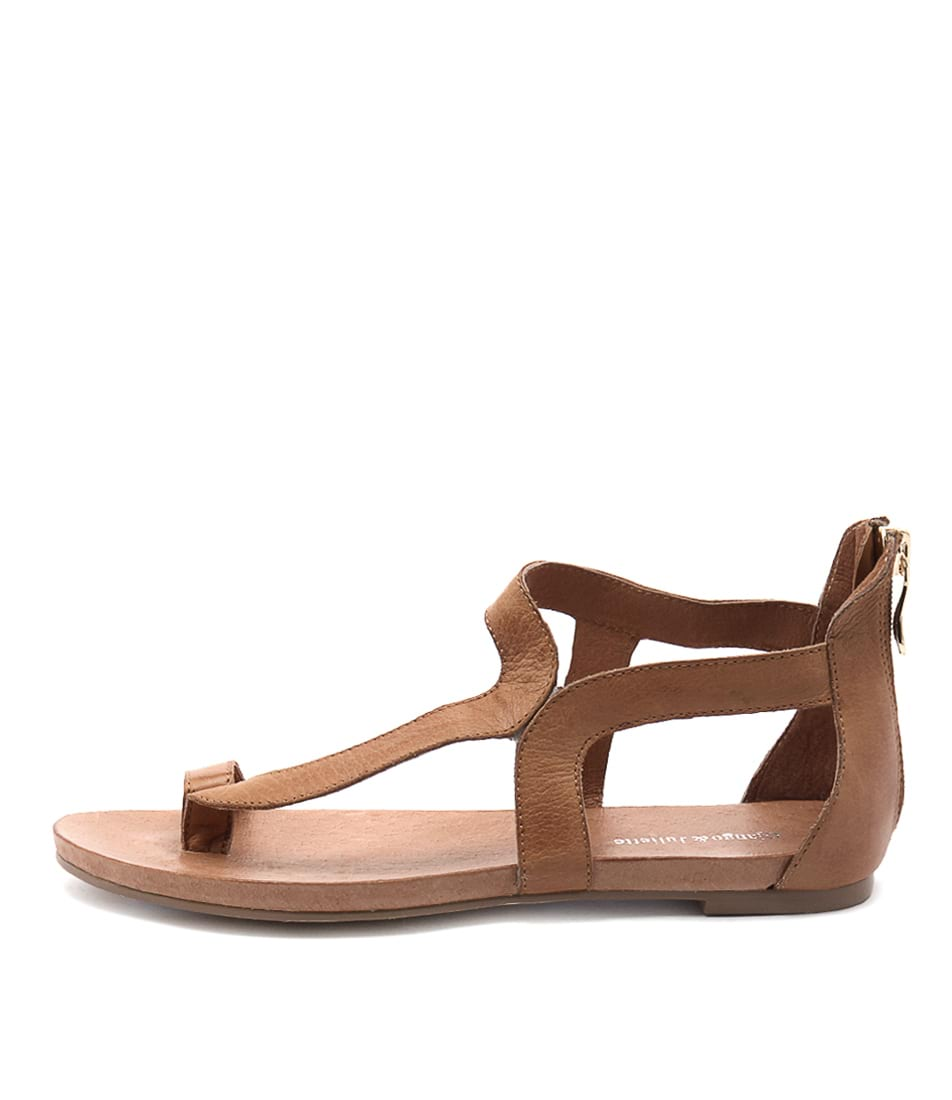 Buy Django & Juliette Jackson Tan Flat Sandals online with free shipping