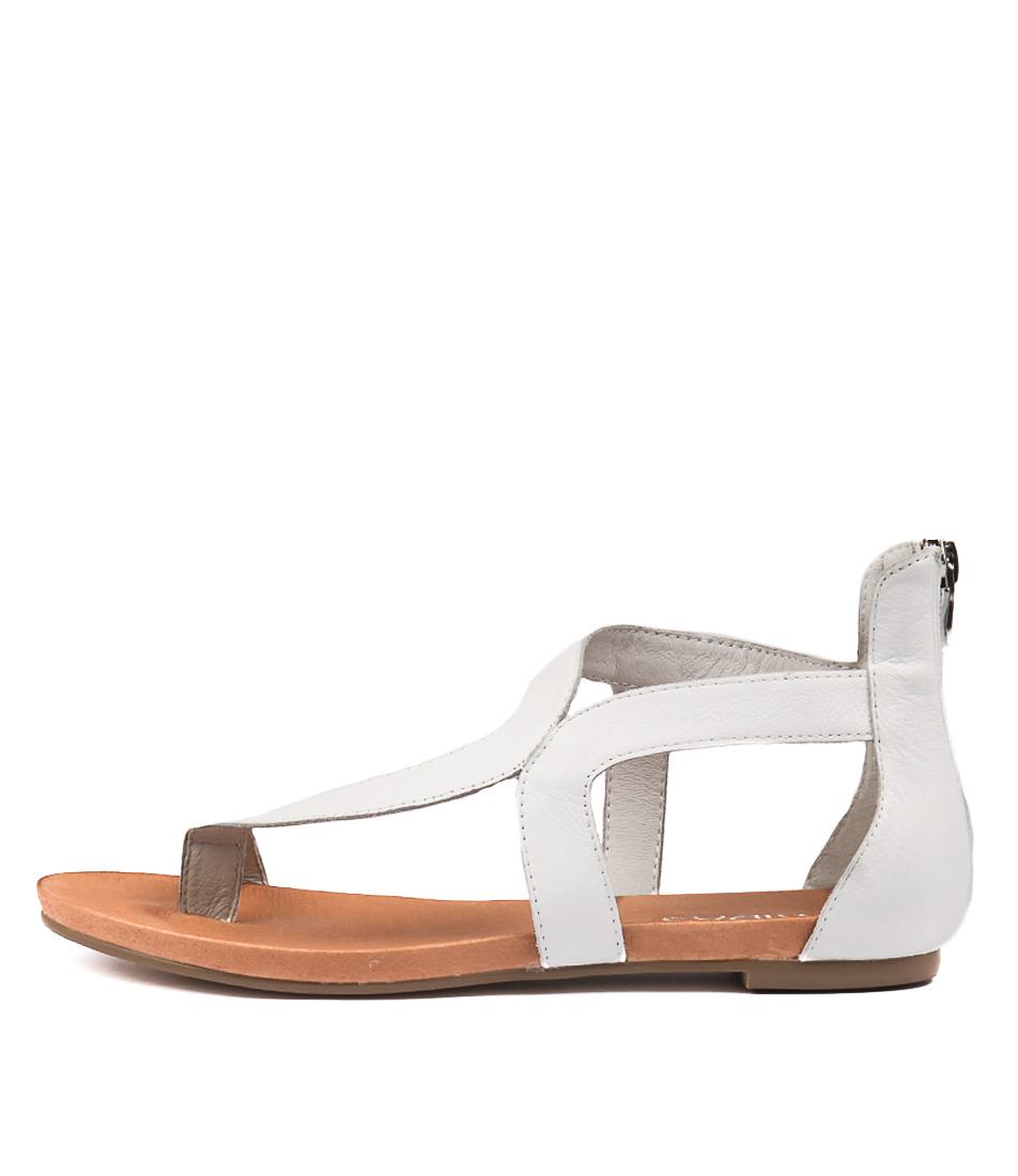 Buy Django & Juliette Jackson White Flat Sandals online with free shipping