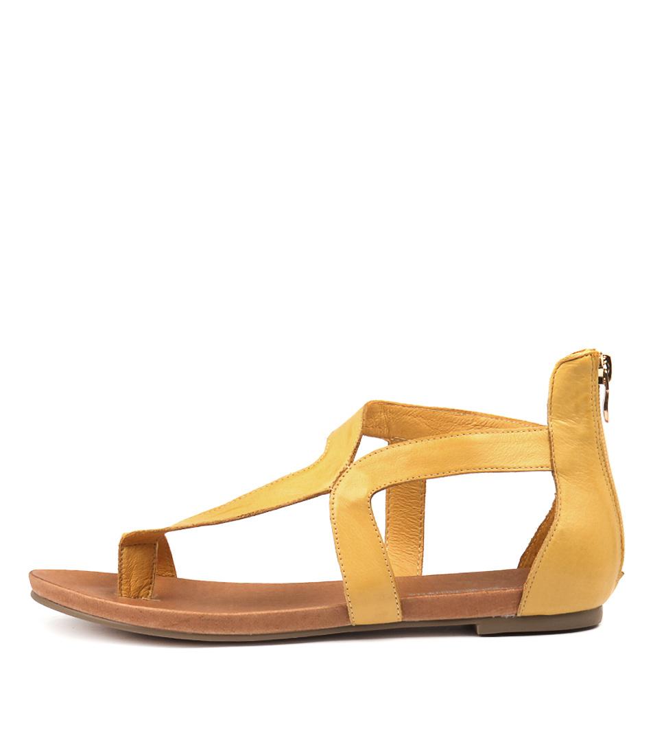 Buy Django & Juliette Jackson Yellow Flat Sandals online with free shipping