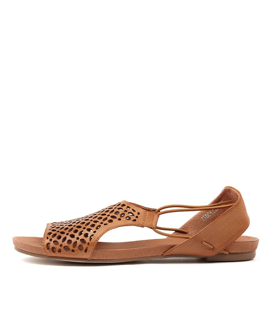 Buy Django & Juliette Jadelike Tan Flat Sandals online with free shipping