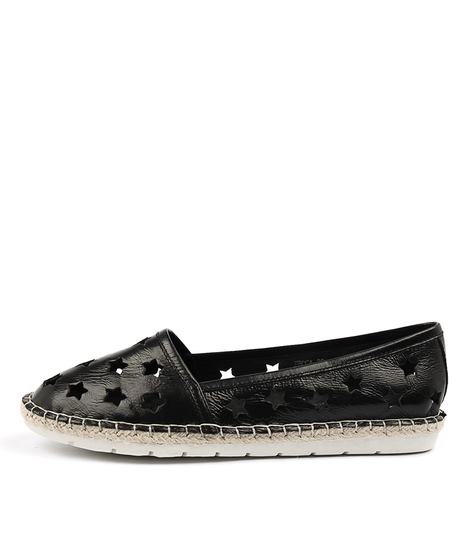 Django & Juliette Jecca Black Metallic Casual Flat Shoes