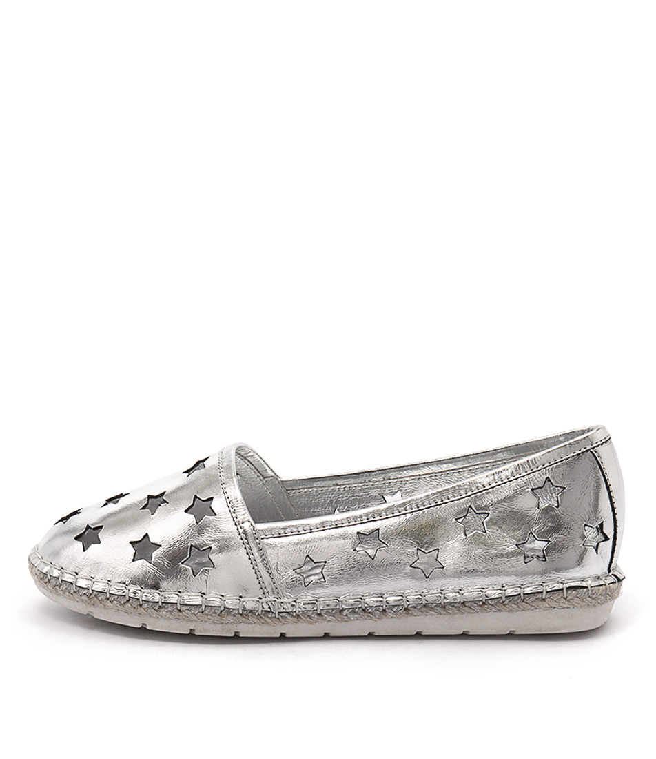buy Django & Juliette Jecca Silver Flat Shoes shop Django & Juliette Flats online