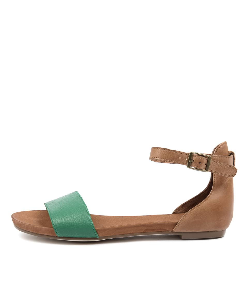 Django & Juliette Jemila Emerald Tan Sandals