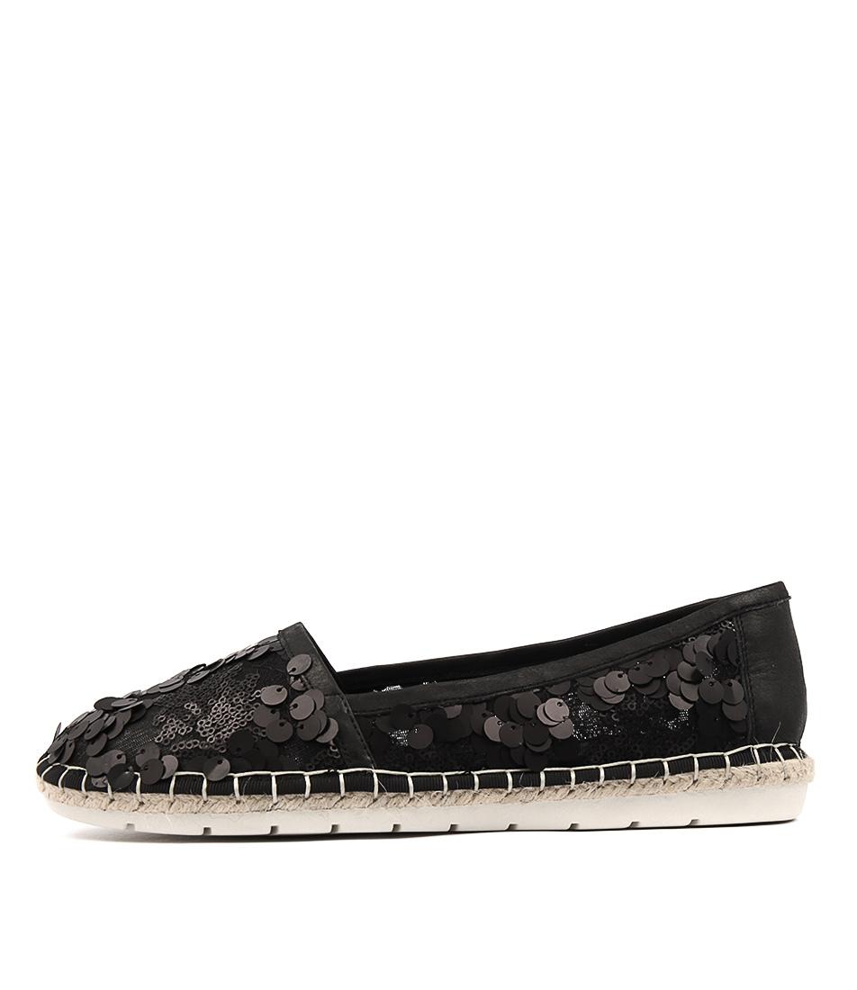Django & Juliette Jossa Black Flat Shoes