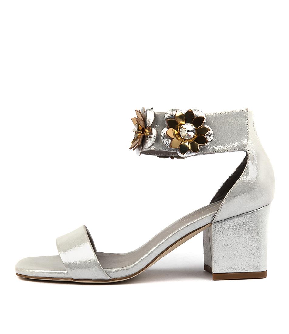 Django & Juliette Latisha Silver Dust Gol Heeled Sandals