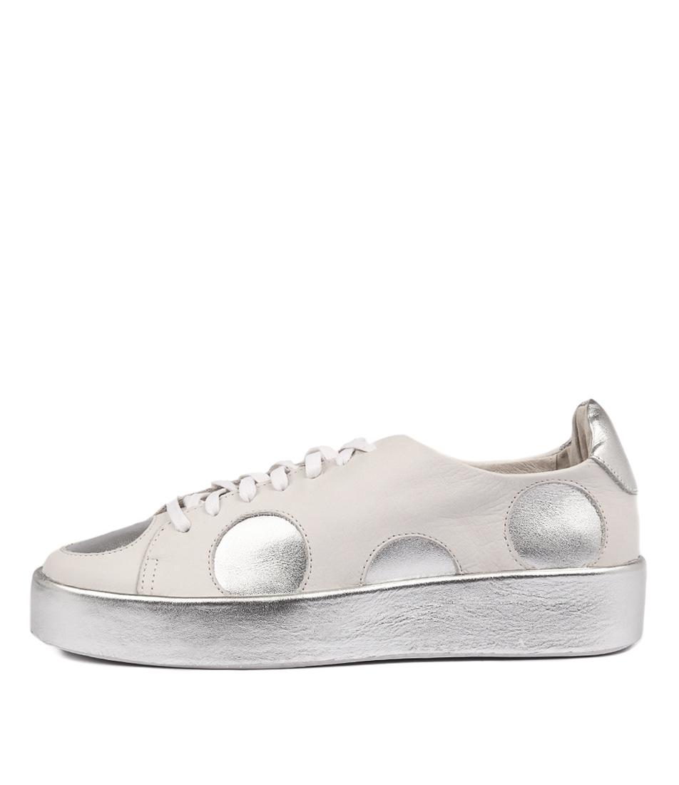 Django & Juliette Libbys White Silver Sneakers