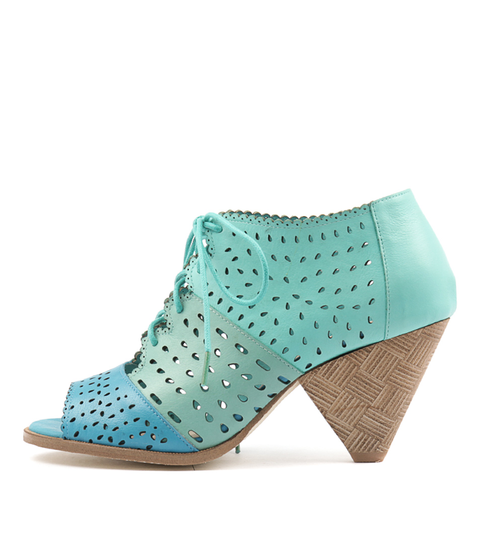 Django & Juliette Oceansh Aqua Mint Sea F Heeled Sandals