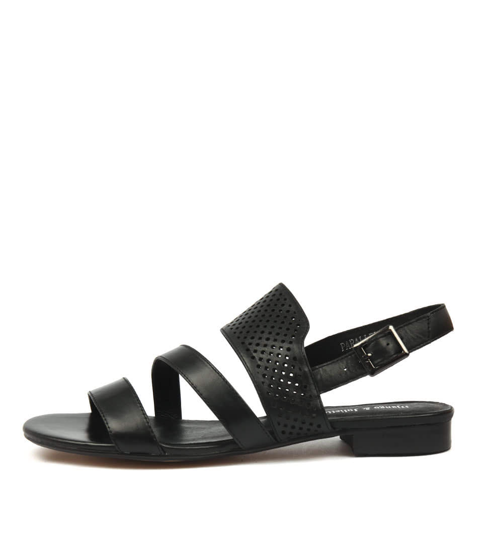 Django & Juliette Parallel Black Black Flat Sandals