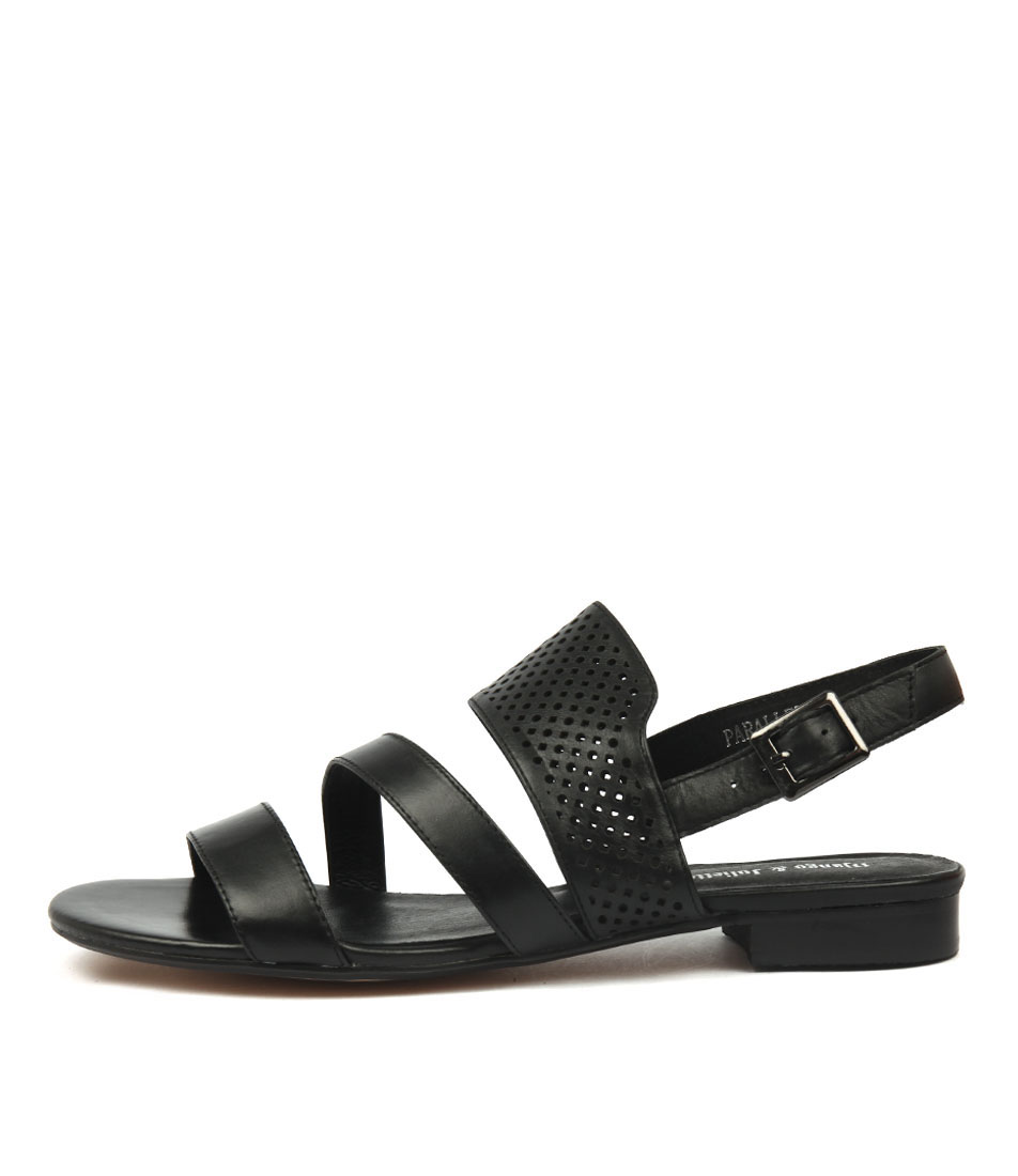 Photo of Django & Juliette Parallel Black Sandals, shop Django & Juliette shoes online