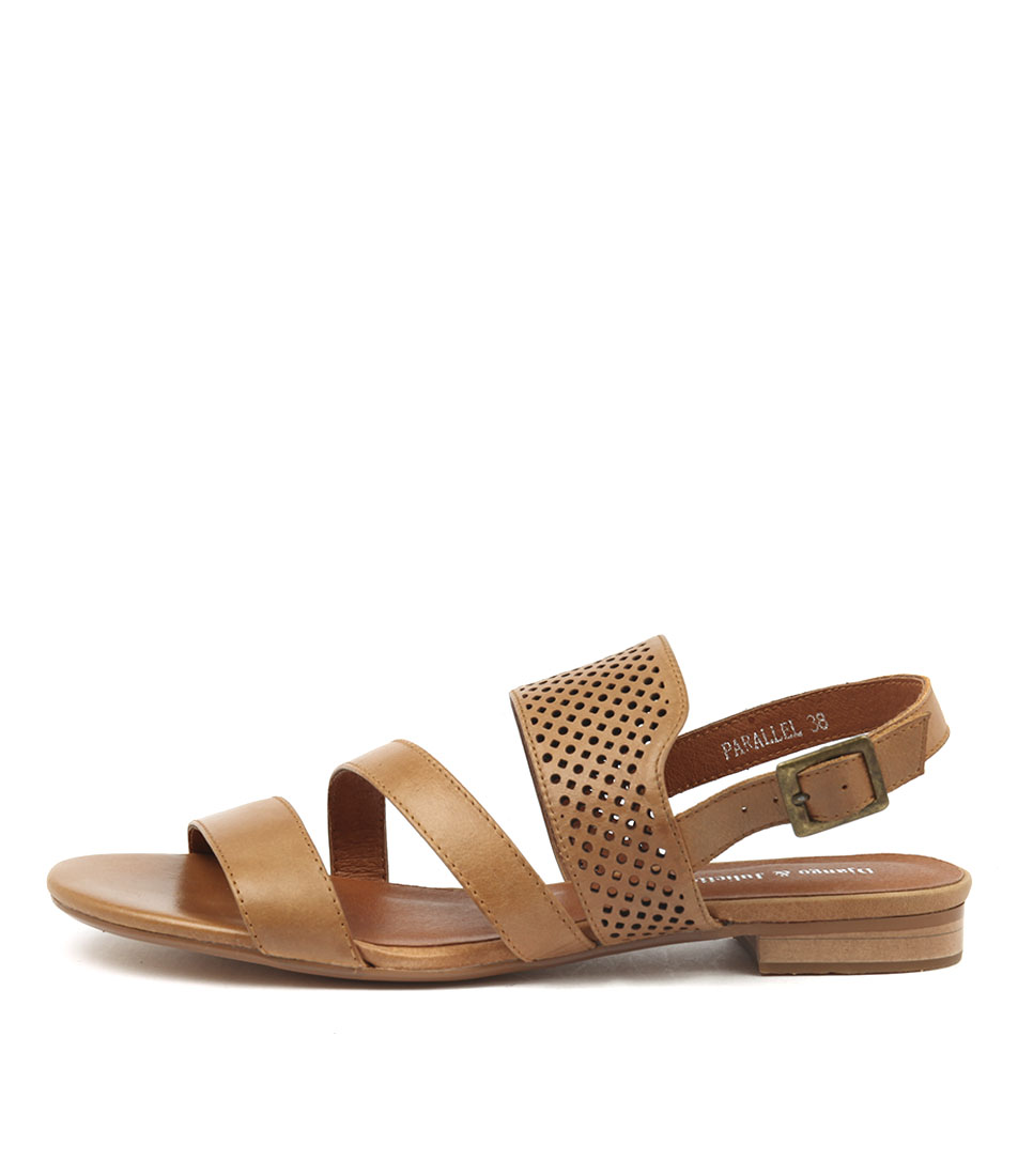 Django & Juliette Parallel Tan Tan Sandals