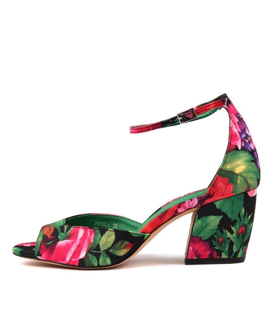 Django & Juliette Petula Black Multi Heeled Sandals